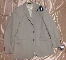 NWT Men Nautica Tan Tic Suit Separate Coat Gift Party Wedding Size 40L $240