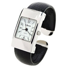 Black Silver Snake Style Band Small Size Eikon Women's Bangle Cuff Watch