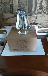 Vintage Newport Gorham Silverplate Water Pitcher with Ice Guard Signed NIB