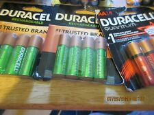 8 DURACELL AA Rechargeable & 6 Duracell Quantum  Batteries  2023