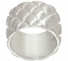 MICHAEL DAWKINS STERLING SILVER QUILT TEXTURE BAND RING SIZE 5 QVC $96.00
