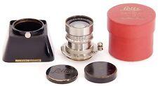 RARE!! Leica RIGID Summar f=5cm 1:2 SUMUSKUP Nickel Model + SOOMP Hood & Caps