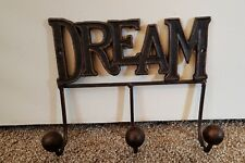 3 Hook Dream Vintage Style Rustic Metal Wall Mount for Robe Coat Towel Hangers