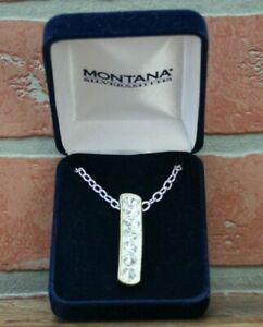 Montana Silversmiths Crystal Shine in Gold Hanging Bar Necklace Item # NC1133