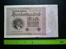 ▄▀▄ Reichsbanknote Hunderttausend Mark 1923, Berlin, Dt. Reich 100000 Mark ▄▀▄