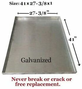 """Dog Crate Tray Pet Crate Pan Galvanized Chew Proof Dog Crate-41""""x27-3/8""""x1"""""""