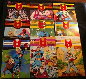 10 Miracleman(1985,Moore) 1,2,3,4,5,6,7,8,9(x2,Birth Issue),New Old Stock