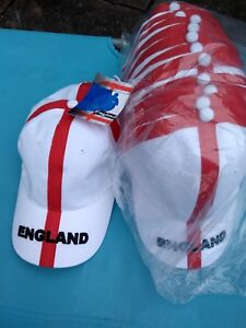 WHOLESALE JOB LOT OF ENGLAND BASEBALL CAPS HATS 1 5 12 24  BRAND NEW WITH TAGS