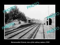OLD LARGE HISTORIC PHOTO OF BARNAWARTHA VICTORIA THE RAILWAY STATION 1920