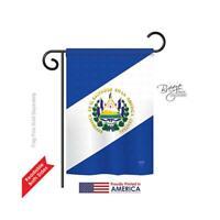 Breeze Decor 58151 El Salvador 2-Sided Impression Garden Flag - 13 x 18.5 in.