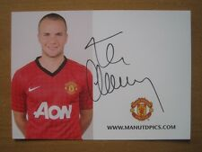 2012-13 Tom Cleverley Signed Man Utd Club Card (3406)