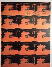 ANDY WARHOL HAND SIGNED * ORANGE DISASTER (ELECTRIC CHAIR) *  PRINT  W/ C.O.A.