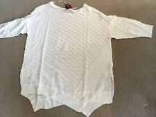 NWT Love Scarlett (Bloomingdales) Woman Size 2X Ivory Open Weave Sweater Ret $92
