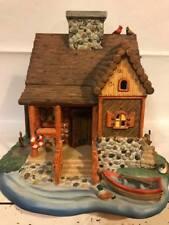 Beautiful Home Interiors Porcelain Log Cabin House Candle Holder. Birds Ducks