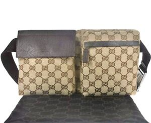 GUCCI Monogram GG Fanny Pack Belt Bag / M310-21114