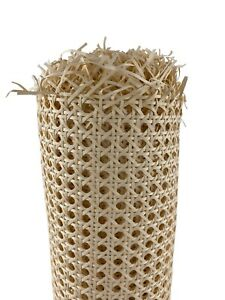 60cm x 50cm Poly Rattan Plastic Cane Webbing Outdoor Up-Cycling DIY Yellow