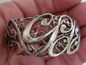 Carolyn Pollack Sterling Silver .925 , 50th Anniversary Filigree Cuff Bracelet