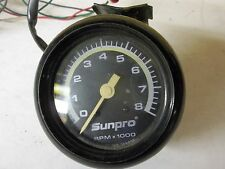 Vintage Sun Pro 8,000 RPM Tachometer With Steering Column Mounting Bracket