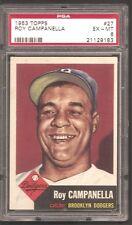 1953 Topps #27 Roy Campanella Dodgers HOF PSA 6!