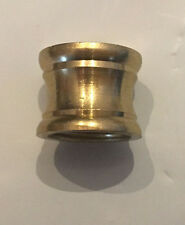 "Lamp Parts Unfinished Brass Neck Coupling 1/8F x 1/4F (3/8"" x 1/2"" lamp pipe)"