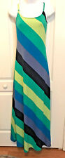 derek heart long multi color striped lounging dress. Size S