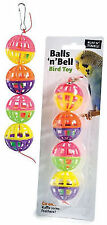 Ruff n Tumble Plastic Budgie Cage Toys for Small Birds ' Balls n Bell '