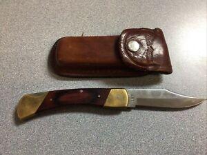 VINTAGE SCHRADE USA LB7 LOCKBACK FOLDING HUNTER BOWIE POCKET KNIFE