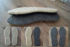 NEU > Filz-Lammfell Winter Einlegesohlen Schafwolle Schuheinlagen Filzsohlen