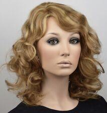 ECHTHAARPERÜCKE Damen Perücke Echthaar blond Mix Strähnen Chemo Haarausfall E16
