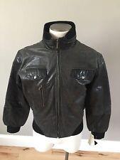 Infinity Black Rebel Motocycle Jacket Punk Rock Leather - Womens 5XL