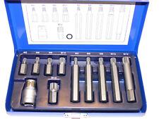 Bitset Vielzahn M5 - M12 , Schaft 10mm , lang/ kurz , mit Adapter, Vielzahnbit