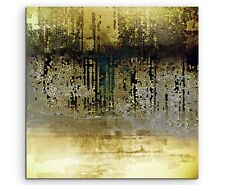 Vintage Mosaik mi Beige, Braun, Blau, Grau, Schwarz und Weiß auf Leinwand