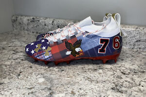 🇺🇸 Under Armour Spotlight Lux LE 'Americana' USA Football Cleats Mens 9.5 RARE