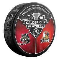 2019 AHL Calder Cup Playoffs Chicago Wolves v Grand Rapids Griffins Hockey Puck