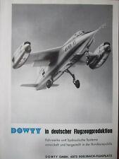 7/1964 PUB DOWTY VJ101 X1 VTOL AIRCRAFT FLUGZEUG ORIGINAL GERMAN AD