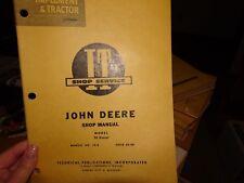John Deere 70 Diesel Tractor I&T Shop Manual Jd-8