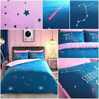 New Cosmic Stardust Print Luxury Duvet Cover Set Modern Style Reversible Bedding