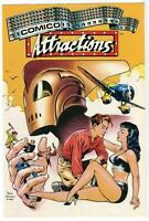 THE ROCKETEER COMICO ATTRACTIONS 1987 Advertising DAVE STEVENS COVER Betty Page