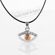 Collar NARANJA del ojo malvado cristal Amuleto Colgante Joyería Judaica Kabbalah