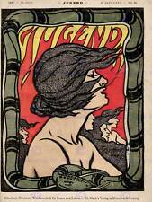 ADVERT CULTURAL MAGAZINE COVER JUGEND HAIR WOMEN POSTER ART PRINT BB4555B