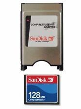 SanDisk 128MB CF Compact Flash + ATA PC Adaptateur = PCMCIA disque pour CNC