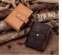 KAVIS men Genuine Leather Rfid Wallet Coin Purse Short fashion Male Money Bag