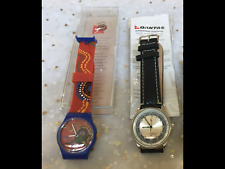 2 x New In Pack Qantas Souvenir Watches black leather Band, Wunala Dreaming