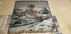 Mohawk Area Rug 57x51 winter cabin rug beautiful color MADE IN USA