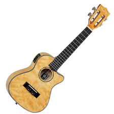 More details for tanglewood twt29-e tiare concert cutaway electro ukulele - tennessee honey gloss