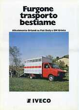 BROCHURE DEPLIANT IVECO FURGONE TRASPORTO BESTIAME ORLANDI FIAT DAILY OM GRINTA
