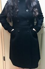 New Hs1930 Women's Long Black Wool Winter Jacket/Coat - Size 6 MSRP $425