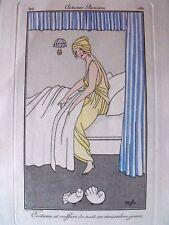 Marie-M. Franc-Nohain (MFN)  Costumes Parisiens 1914 costume de nuit pl 180