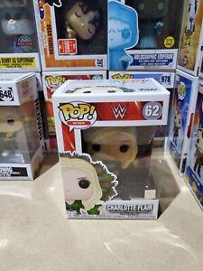 FUNKO WWE CHARLOTTE FLAIR GREEN ATTIRE #62 POP VINYL NEW.