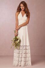 NWOT BHLDN Griffin Halter White Maxi Dress by Candela - Size L - Boho Bride